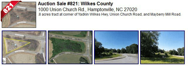 Auction Sale #821: Wilkes County - 1000 Union Church Rd., Hamptonville, NC 27020